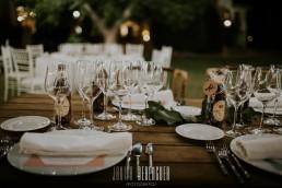 Mesa para una boda en Yeguada Lagloria