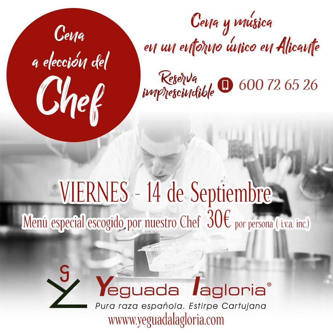 Las cenas del Chef en Yeguada Lagloria
